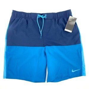 Nike Repel Hydrofuge Blue Color Block Swim Trunks